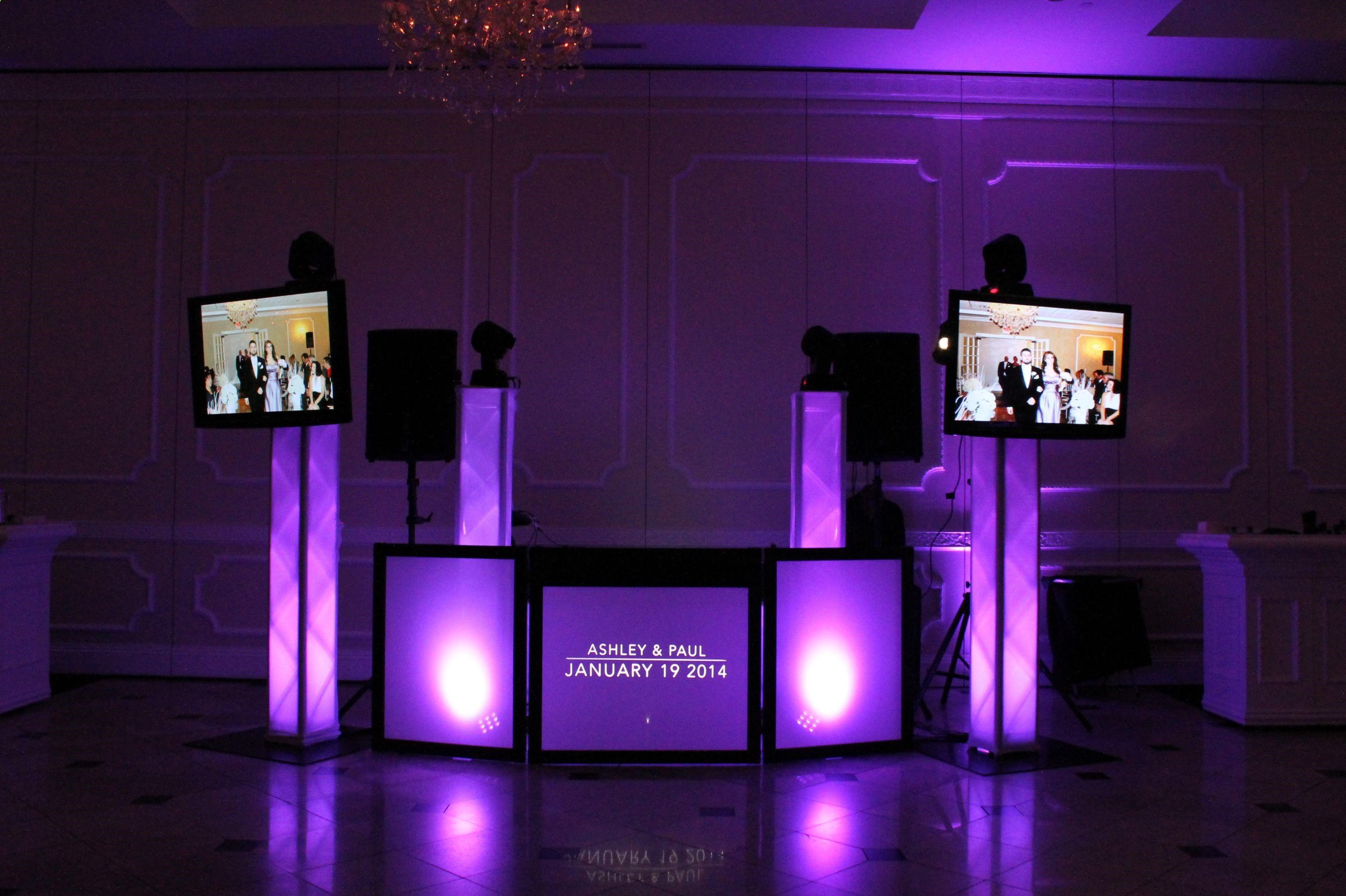Purple Dj Lighting Wedding Dj Setup Dj Lighting Dj Booth