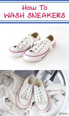 How To Wash Sneakers In A Washing Machine Ehow How To Wash Sneakers House Cleaning Tips Cleaning Hacks