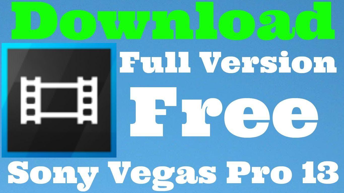 sony vegas pro 13 full free download