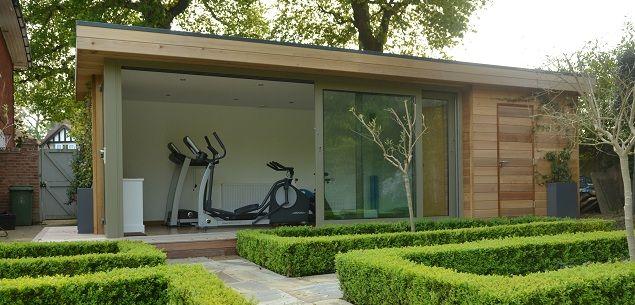 Garden gym room contemporary log cabin under m high