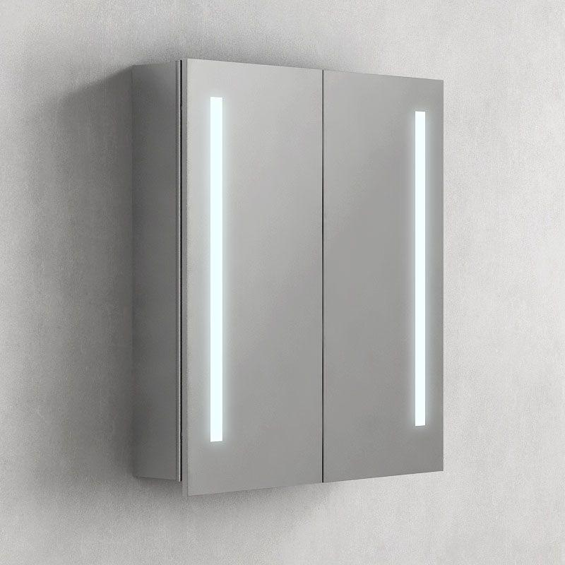 armoire de toilette eclairante glass 60