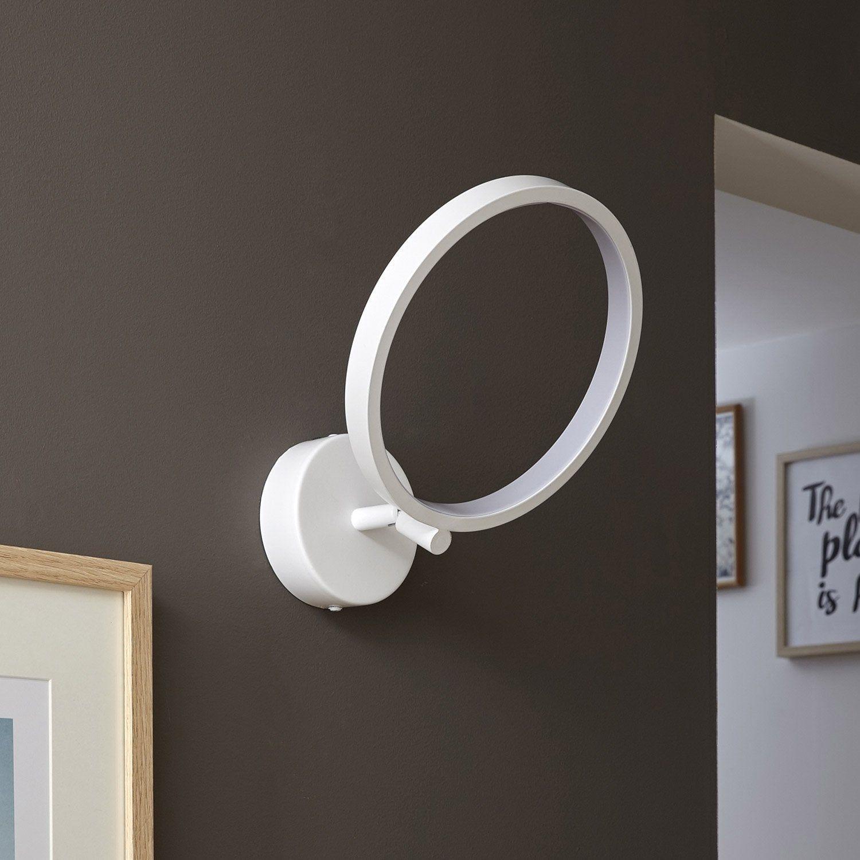 Applique Moderne Led Intégrée Hoop Métal Blanc 1 Inspire