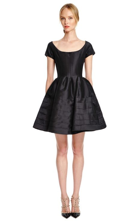 Silk Faille Cocktail Dress by Zac Posen Now Available on Moda Operandi