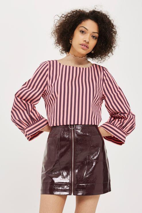 ac30afcdac Cracked Vinyl Zip Mini Skirt   Project G   Mini skirts, Vinyl mini ...