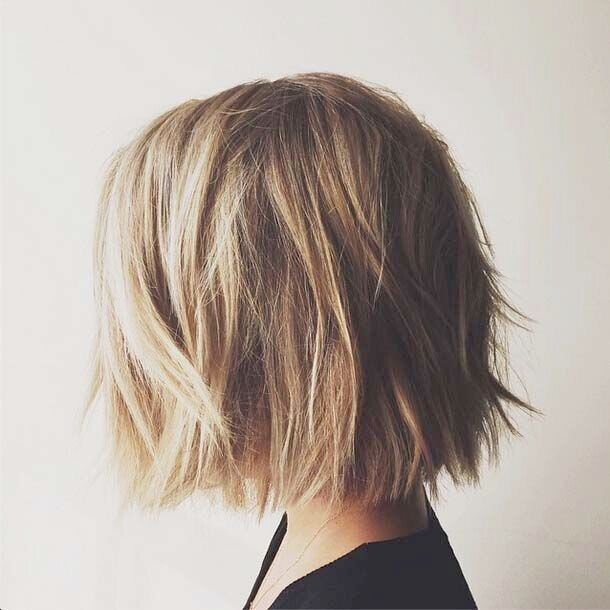 One Length Above Shoulders Medium Hair Styles Hair Styles Short Hair Styles