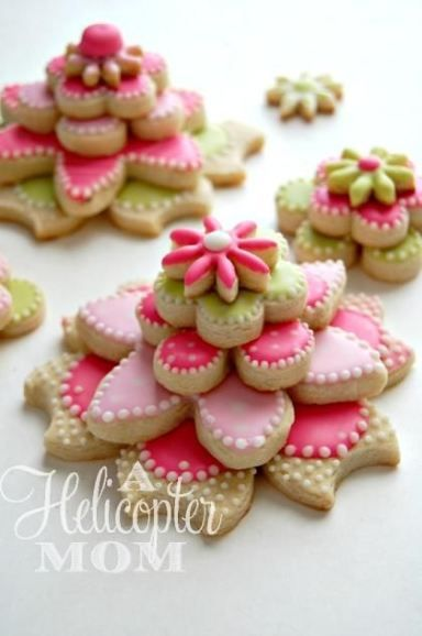 Some of my more popular cookies - stacked cookies are such a cool twist on regular iced cookies. Great for favors and even table decorations.