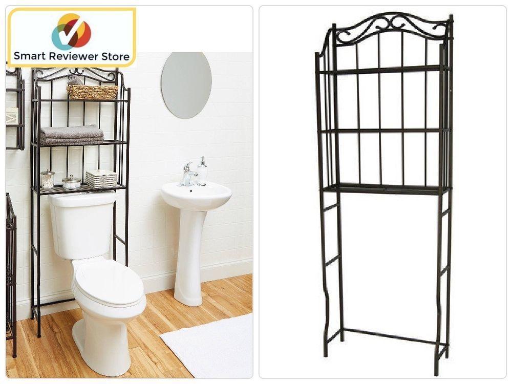 Bronze Tower Rack Over The Toilet Bathroom Storage Organizer Shelfs ...
