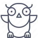 Owl Curious Learner Study Icon Learners Icon Curious