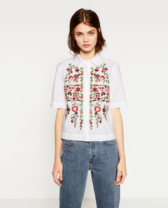 EMBROIDERED POPLIN SHIRT - NEW IN