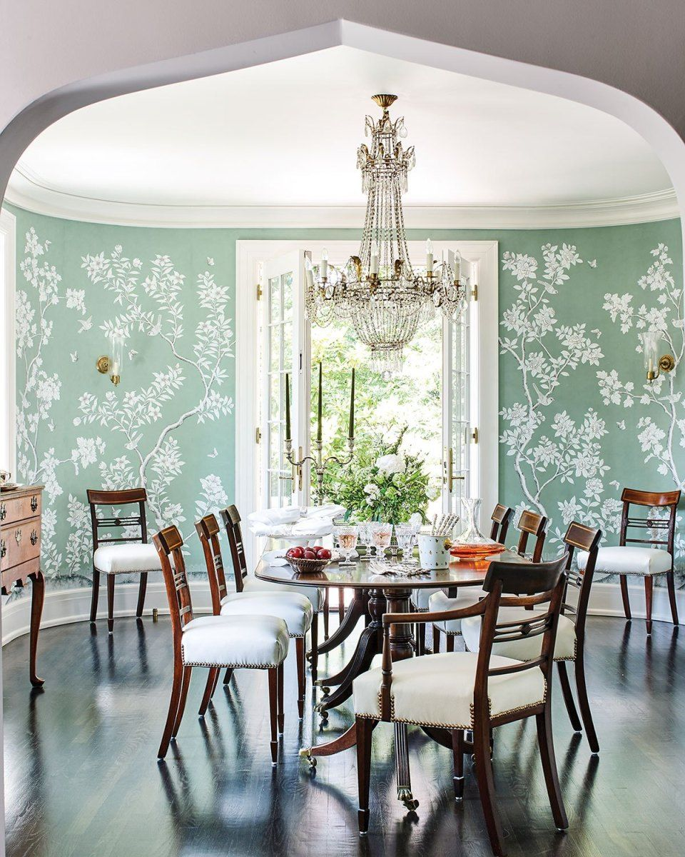Coming Up Roses Dining Room Blue Home Decor Dining Room Inspiration