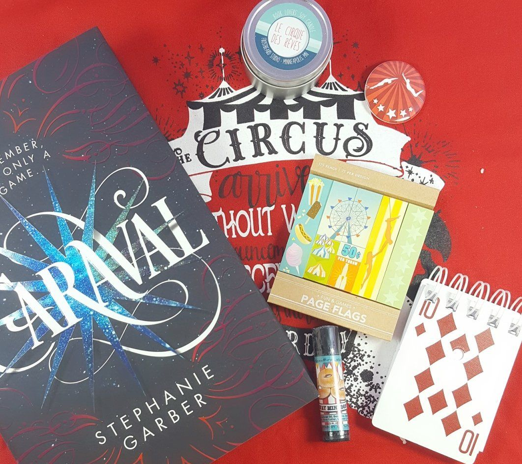 """OwlCrate is book and bookish items subscription box. See the review of the February 2017 """"Run Away with the Circus"""" box + coupon code to save 10%!   OwlCrate February 2017 Subscription Box Review + Coupon →  https://hellosubscription.com/2017/02/owlcrate-february-2017-subscription-box-review-coupon/ #OwlCrate  #subscriptionbox"""