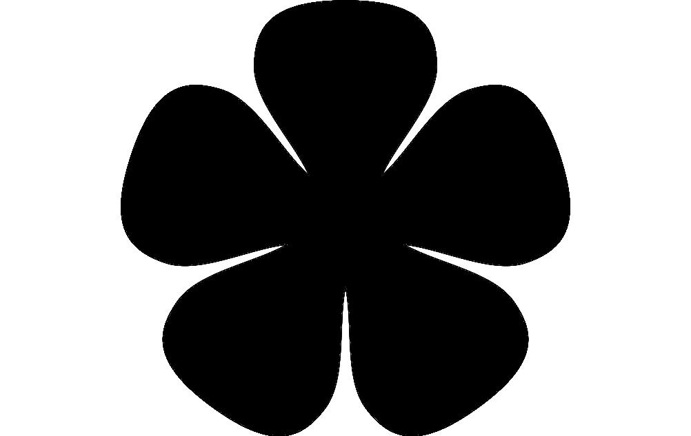 5petal Petit Flower dxf File Free Download | Laser cut