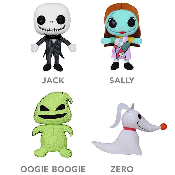 The Nightmare before Christmas mini plush dolls. You can choose ...