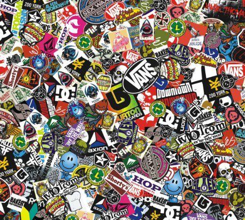 Sticker Bomb Vinyl 152x30 Cm Real Logos Jdm Skateboard