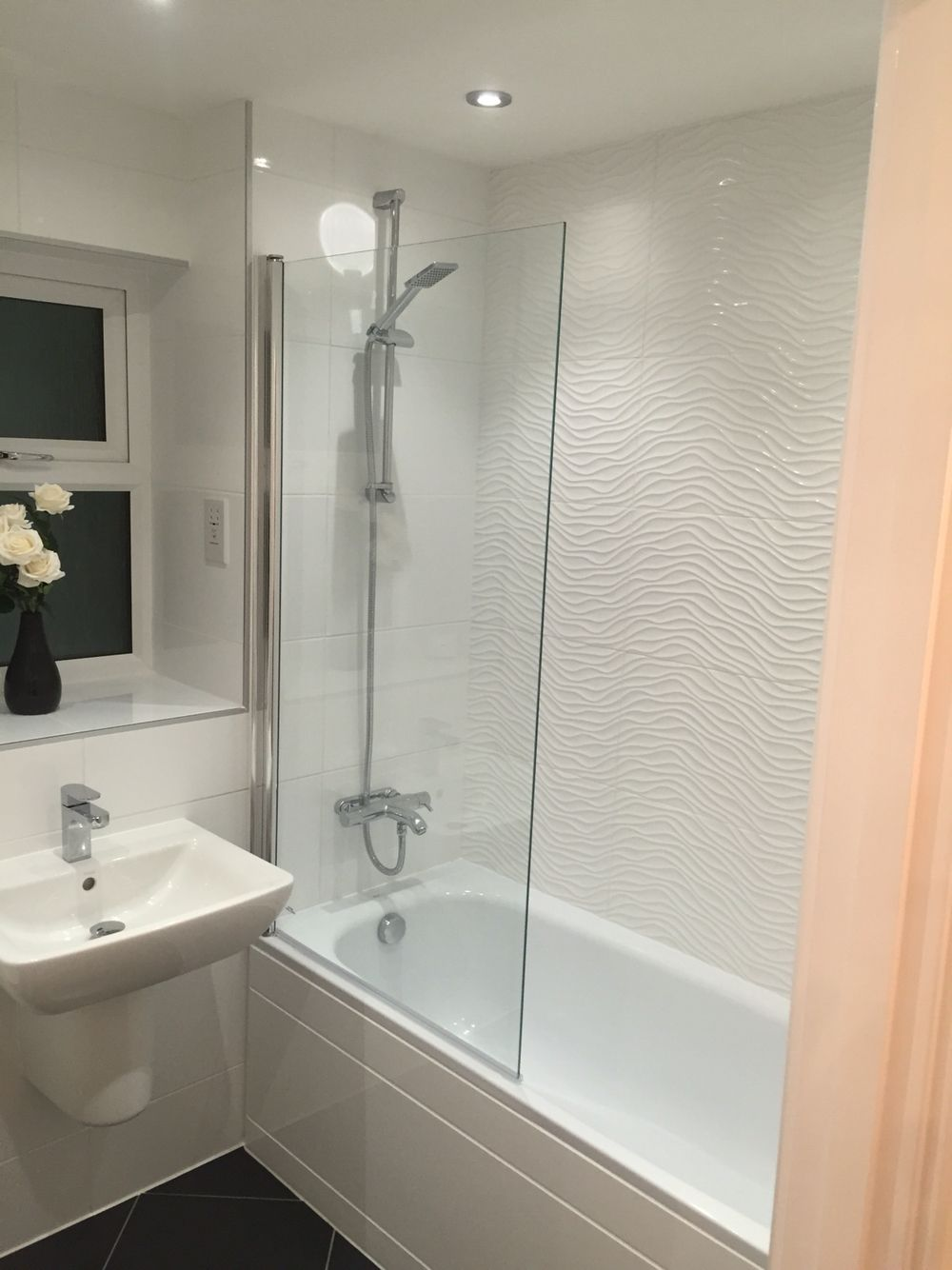 Wave effect bathroom tiles   Bath   Pinterest   Bathroom tiling ...