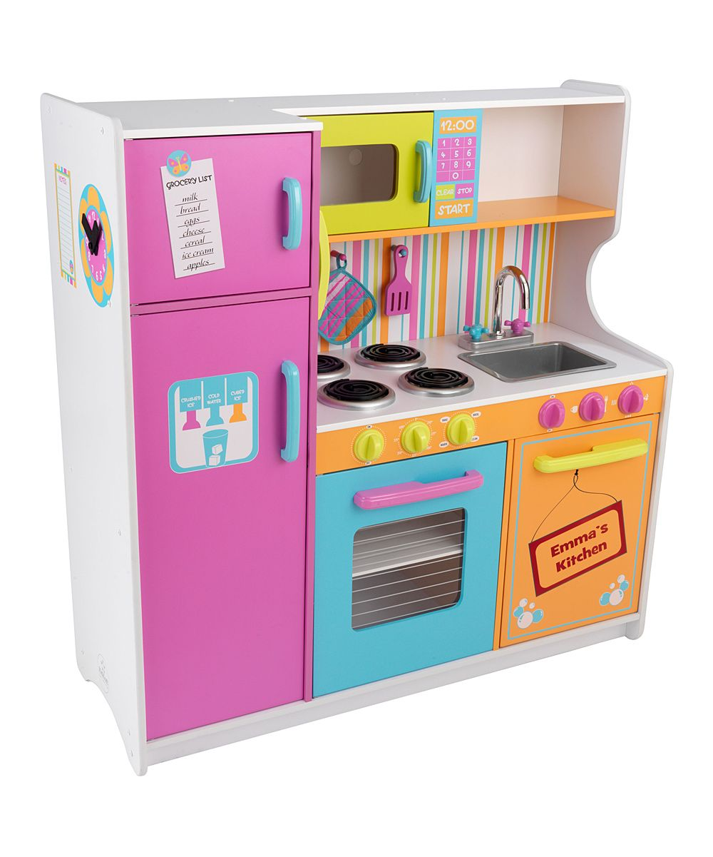 Deluxe Big & Bright Personalized Kitchen | Kids! | Play kitchen sets ...