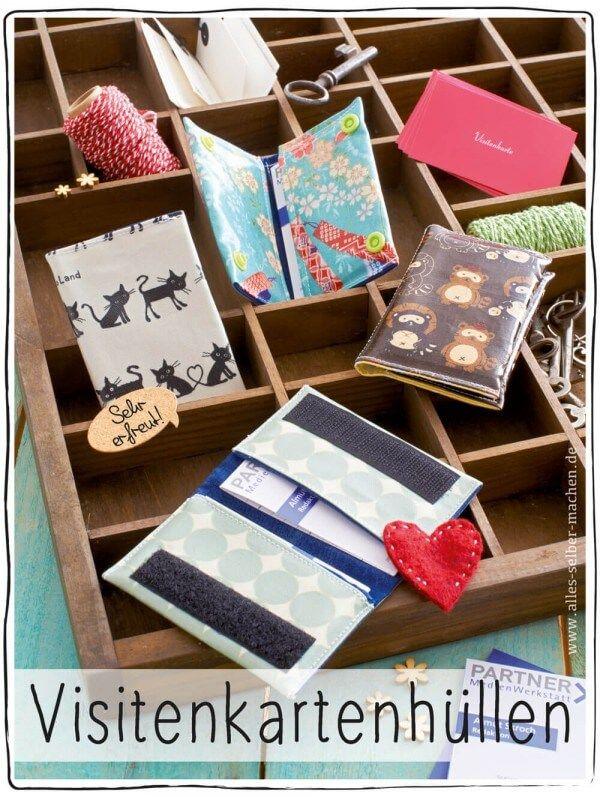 Visitenkartenhüllen aus Wachstuch | Pinterest | Visitenkartenhüllen ...