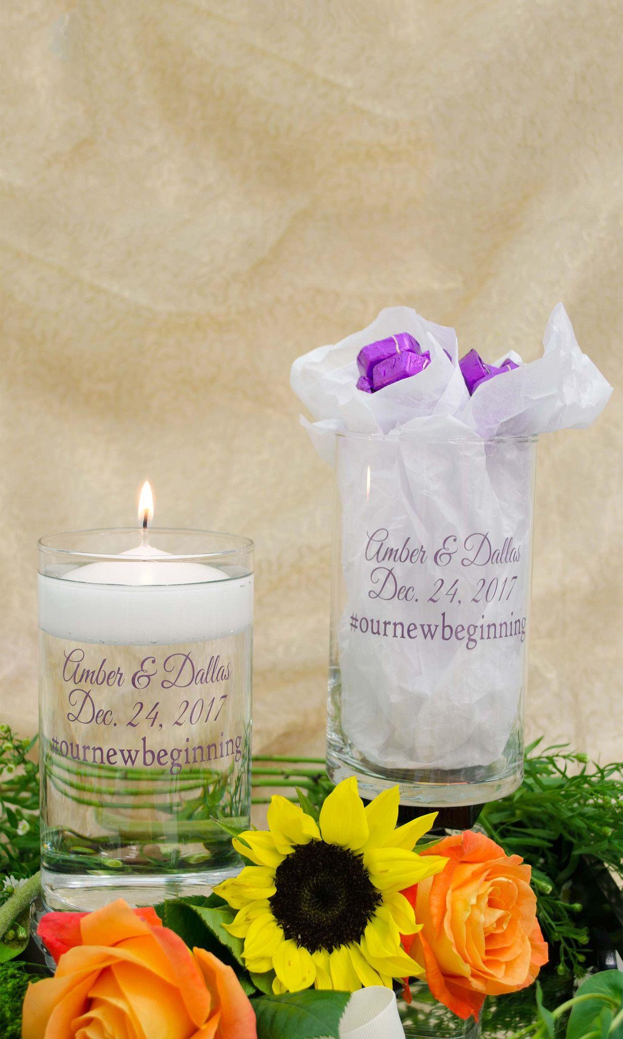 wedding candles, wedding centerpieces, wedding cylinder, candle ...