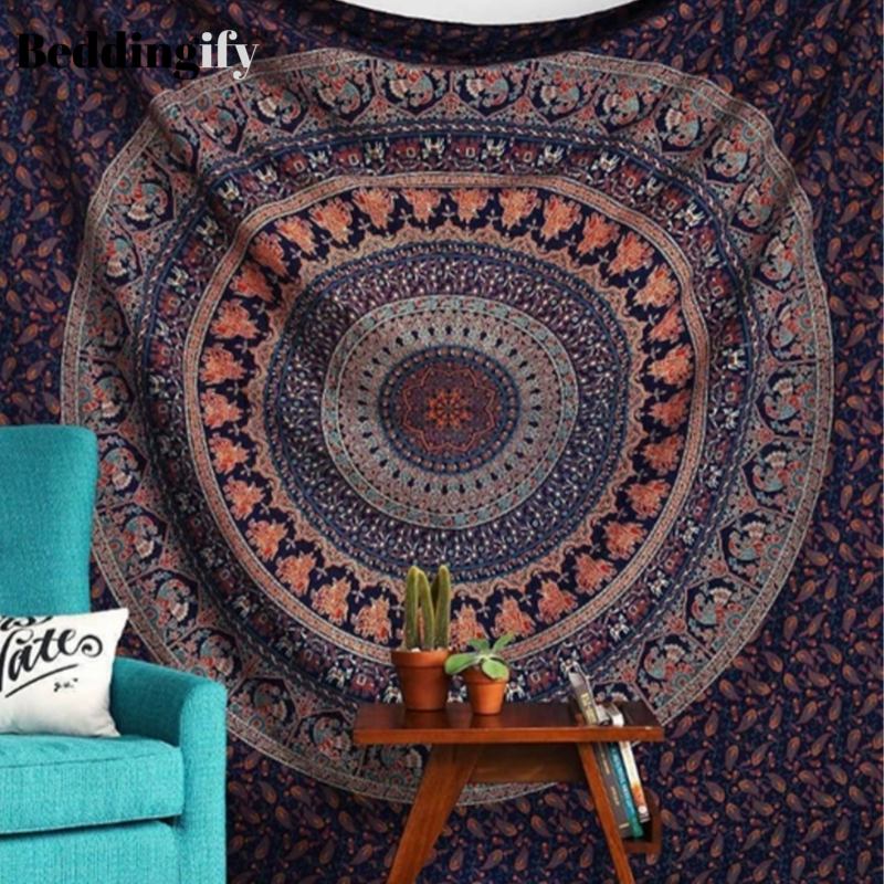 """79/""""x59/"""" Tapestry Indian Hippie Psychedelic Mandala Bedspread Wall Hanging Decor"""