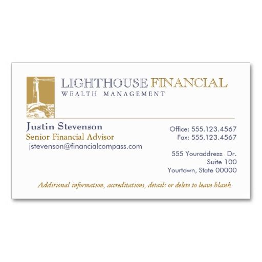 Financial Advisor Business Card Business cards and Business - financial advisor job description