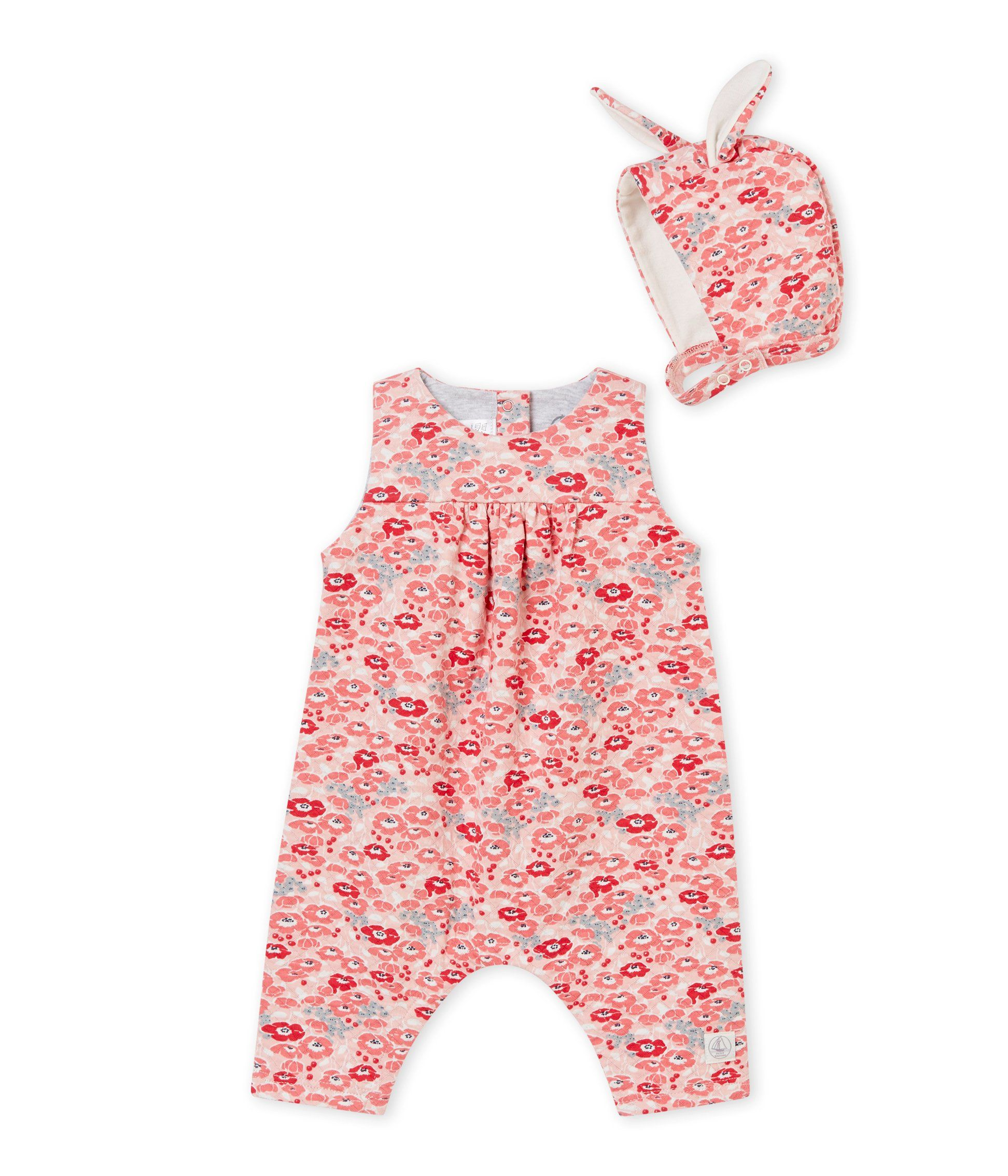 c680484cd Petit Bateau Floral 2 Pc Set Overalls with Matching Hat 12 Month -- Examine  this amazing product by going to the web link at the photo.