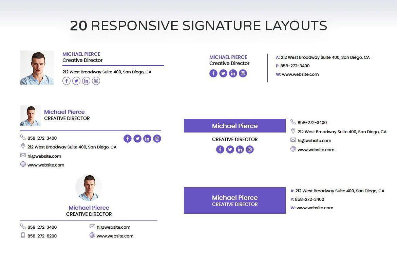 Email Signature Email signature design, Email signatures
