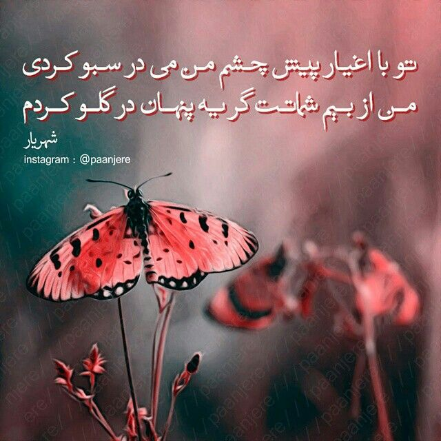 شهریار Persian Quotes Farsi Poem Persian Poem