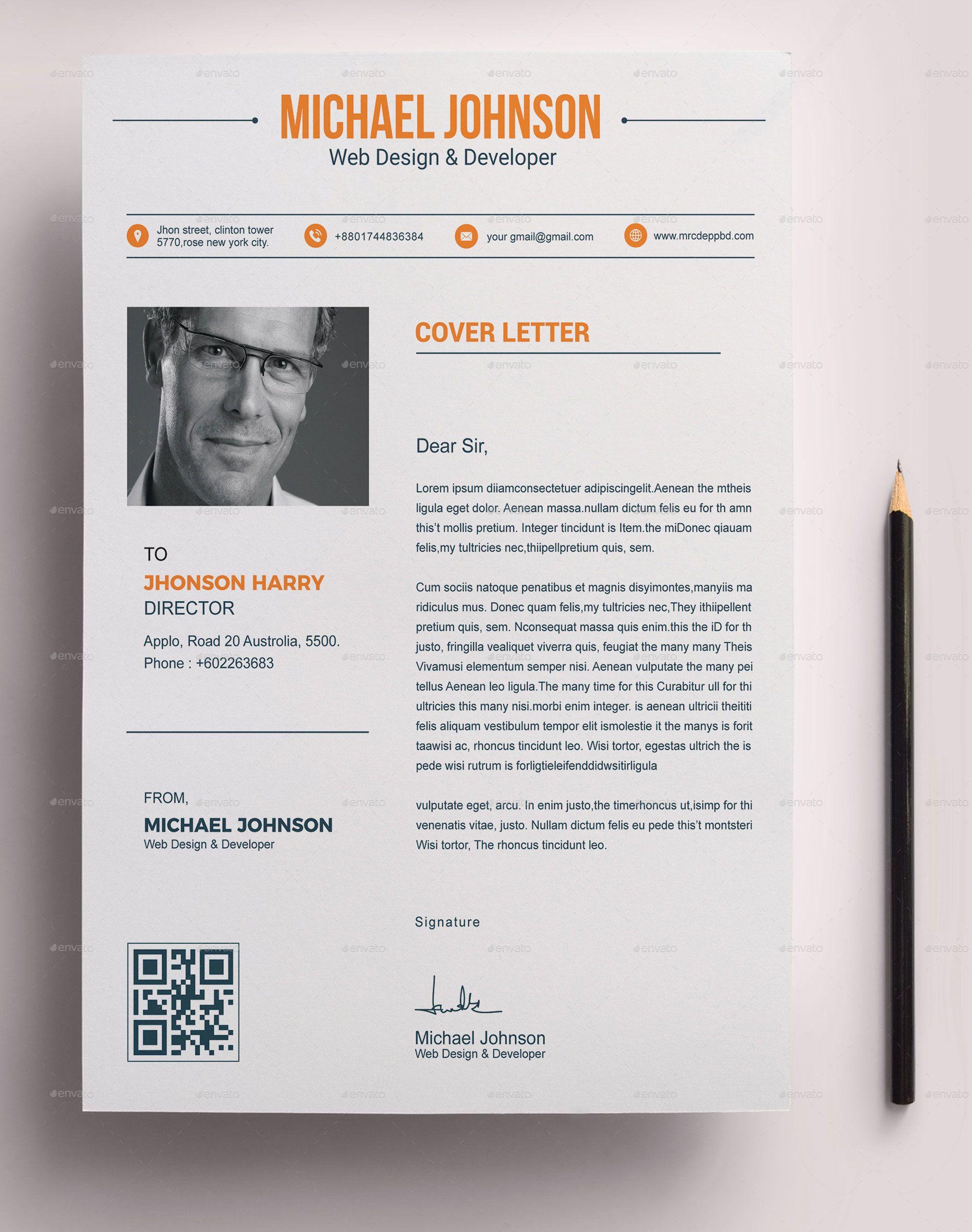 Resume Bundle 3 in 1 Florist logo, Resume, Editable resume
