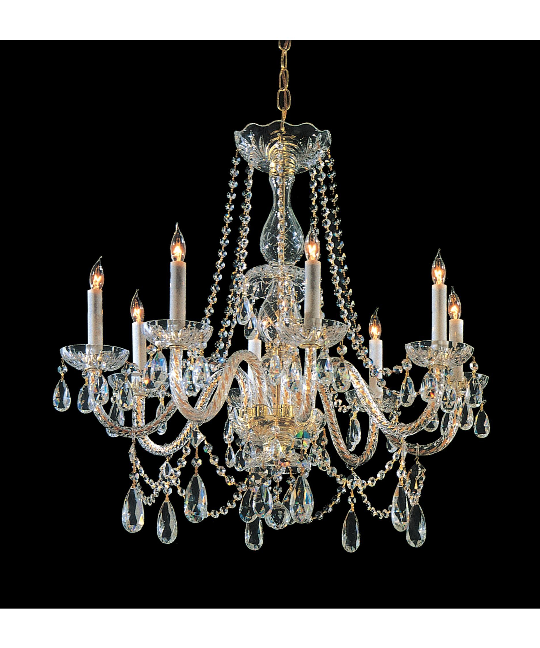Crystorama 1128 Traditional Crystal 26 Inch Chandelier