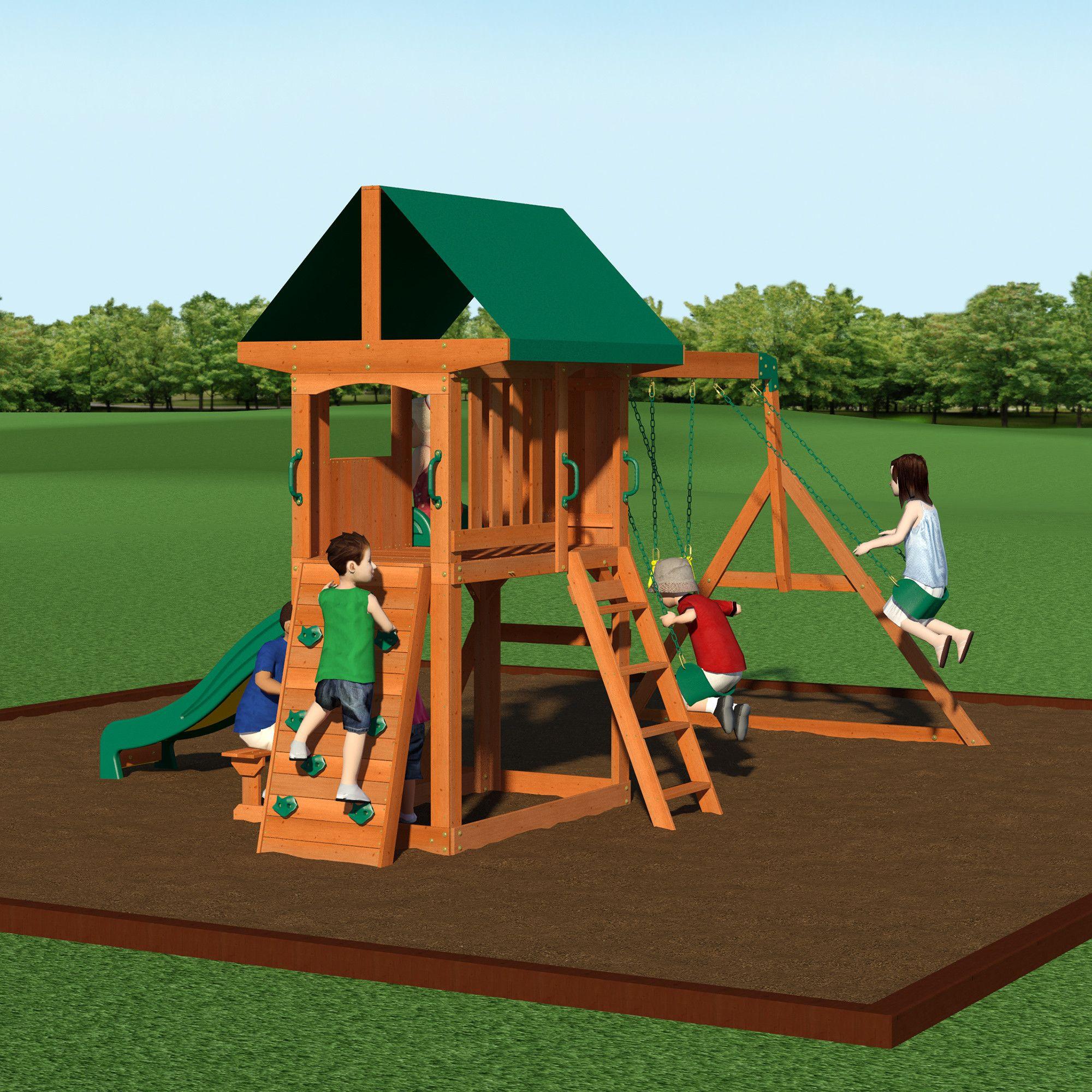 Somerset Cedar Swing Set | Swing set, Cedar swing sets