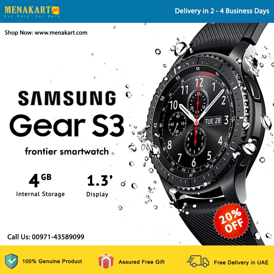 Samsung Gear S3 frontier smartwatch - Black | Smartwatches
