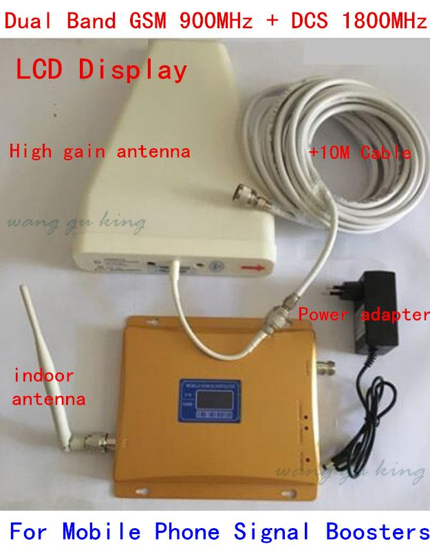 Yagi Ante LCD Display High Gain GSM 980Mhz Signal Booster Amplifier with Cable