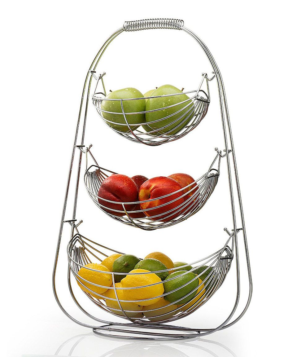 Look what I found on #zulily! Hammock-Style 3-Tiered Fruit Basket ...