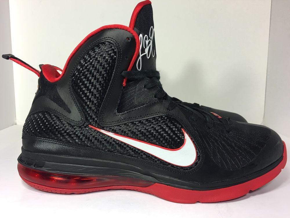 half off d4a5d 31909 Nike Lebron 9 Men s Basketball Shoes Black White Sport Red 469764 003 Size  11 5   eBay