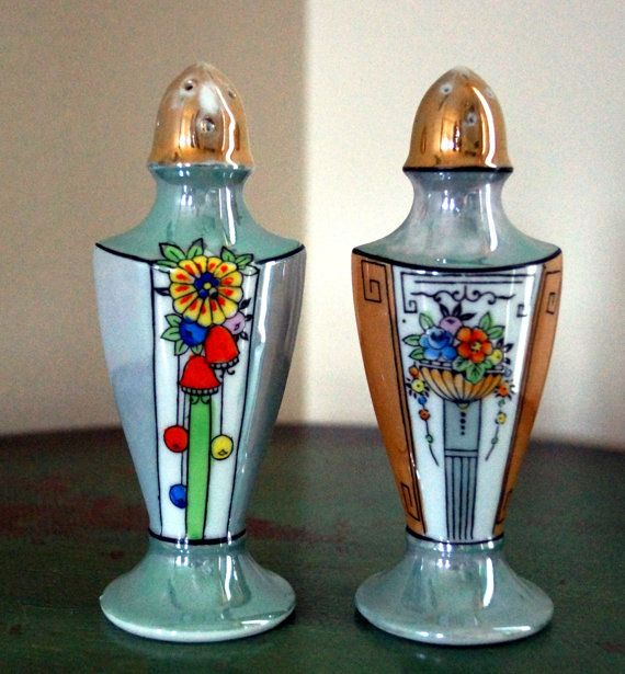 Vintage Hand Painted Japanese Salt and Pepper by SEuropeanVintage