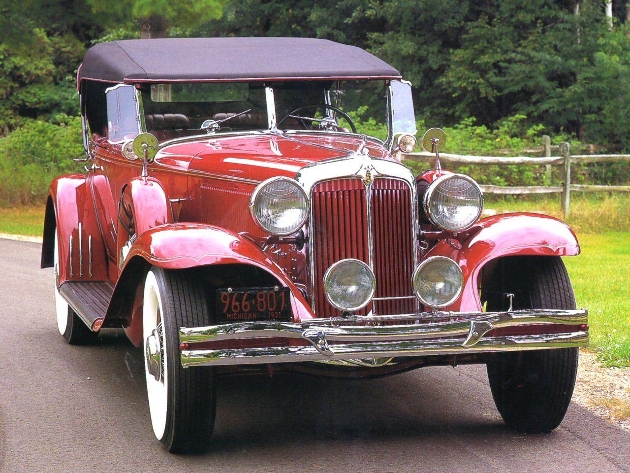 Cars 1931 Chrysler Imperial 4 Door Phaeton Red Fvr