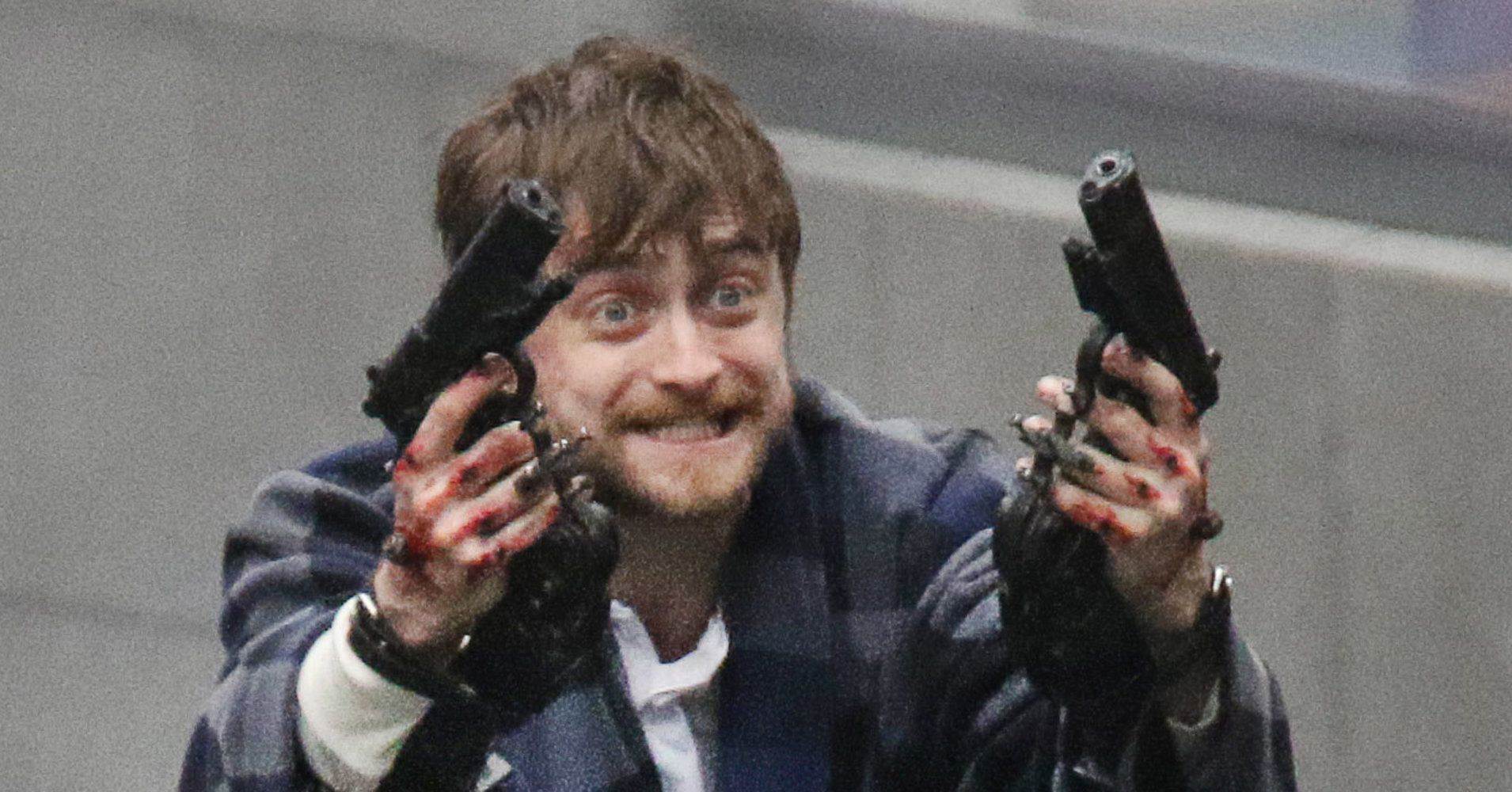 Photo Of Daniel Radcliffe Holding Guns In Crazy Slippers Becomes A Magical Meme Daniel Radcliffe Comic Book Drawing Daniel