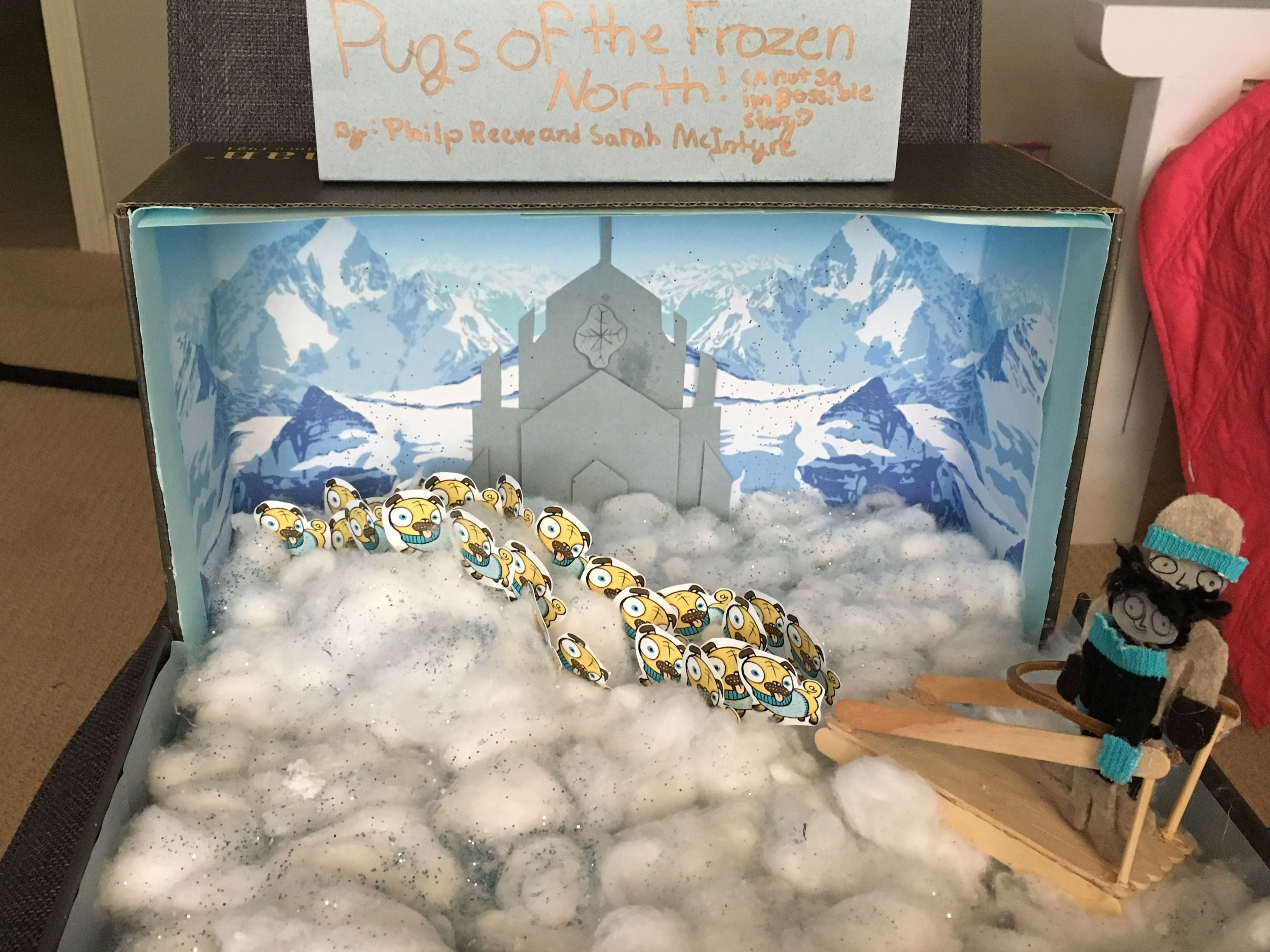 Pugs Of The Frozen North Sunshine State Book Diorama Crafts
