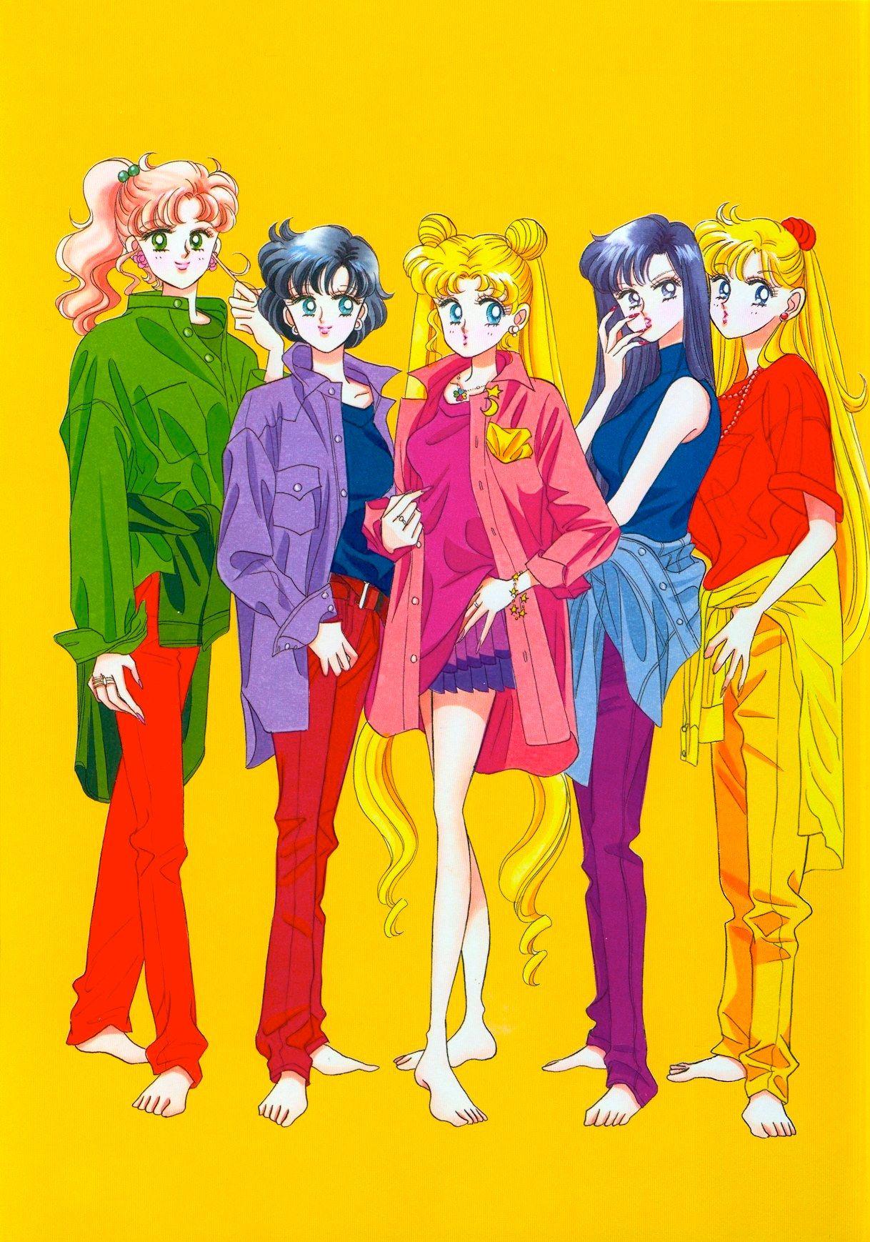 Makoto, Ami, Usagi, Rei, and Minako (Title Page from the