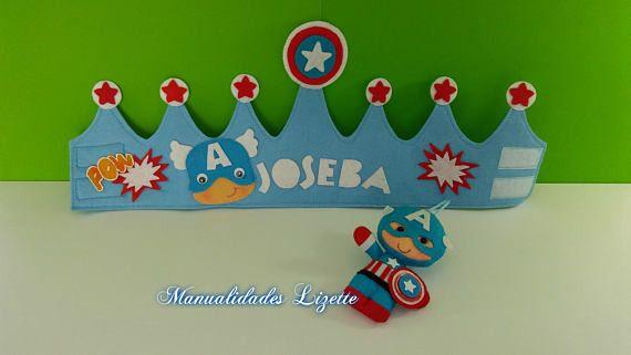 Corona Personalizada Capitan America Coronas Fieltro Pinterest