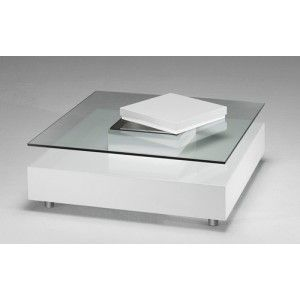 On Aime La Table Basse Joly Laque Blanche By Marais International Pour Son Design Table Basse Carree Composee D Un Pl Table Furniture Coffee Table