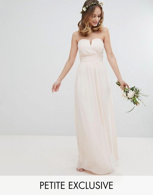 TFNC Petite Bandeau Maxi Bridesmaid Dress | Pinterest | Tfnc ...