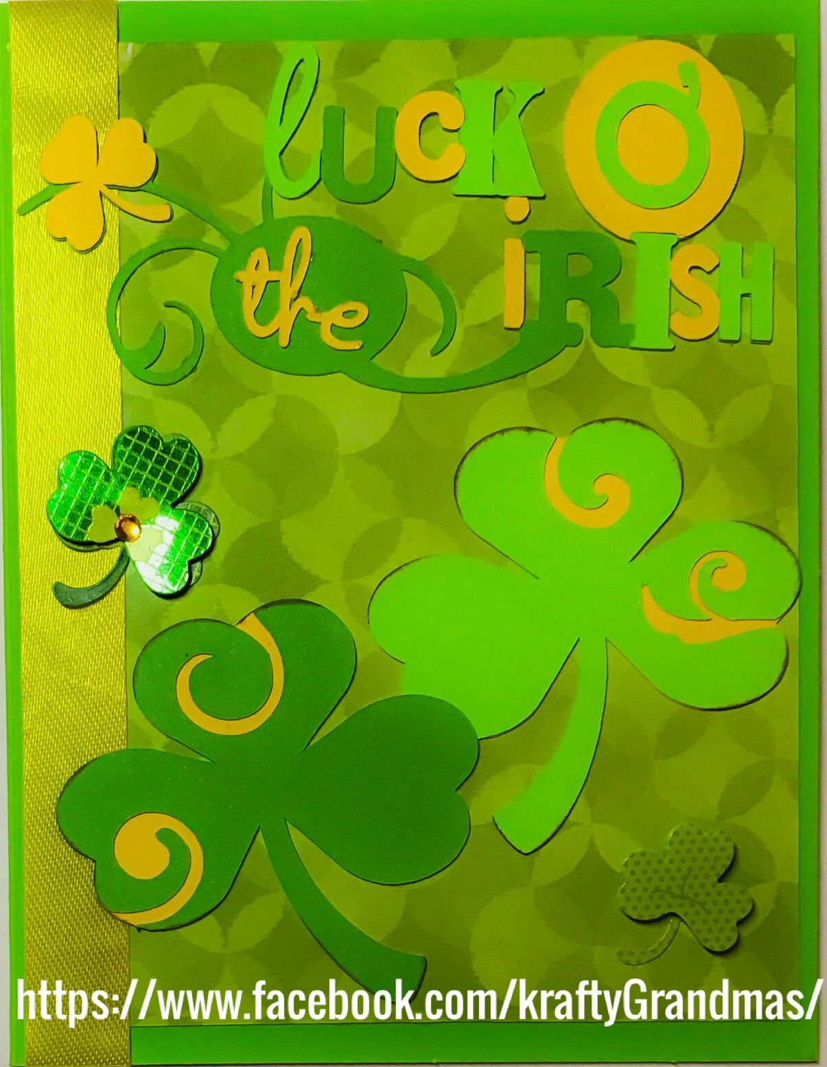 St. Patrick's day card-homemade using Cricut