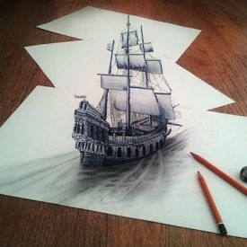 Dutch Artist Ramon Bruin's 3D Drawings Leap Off the Page