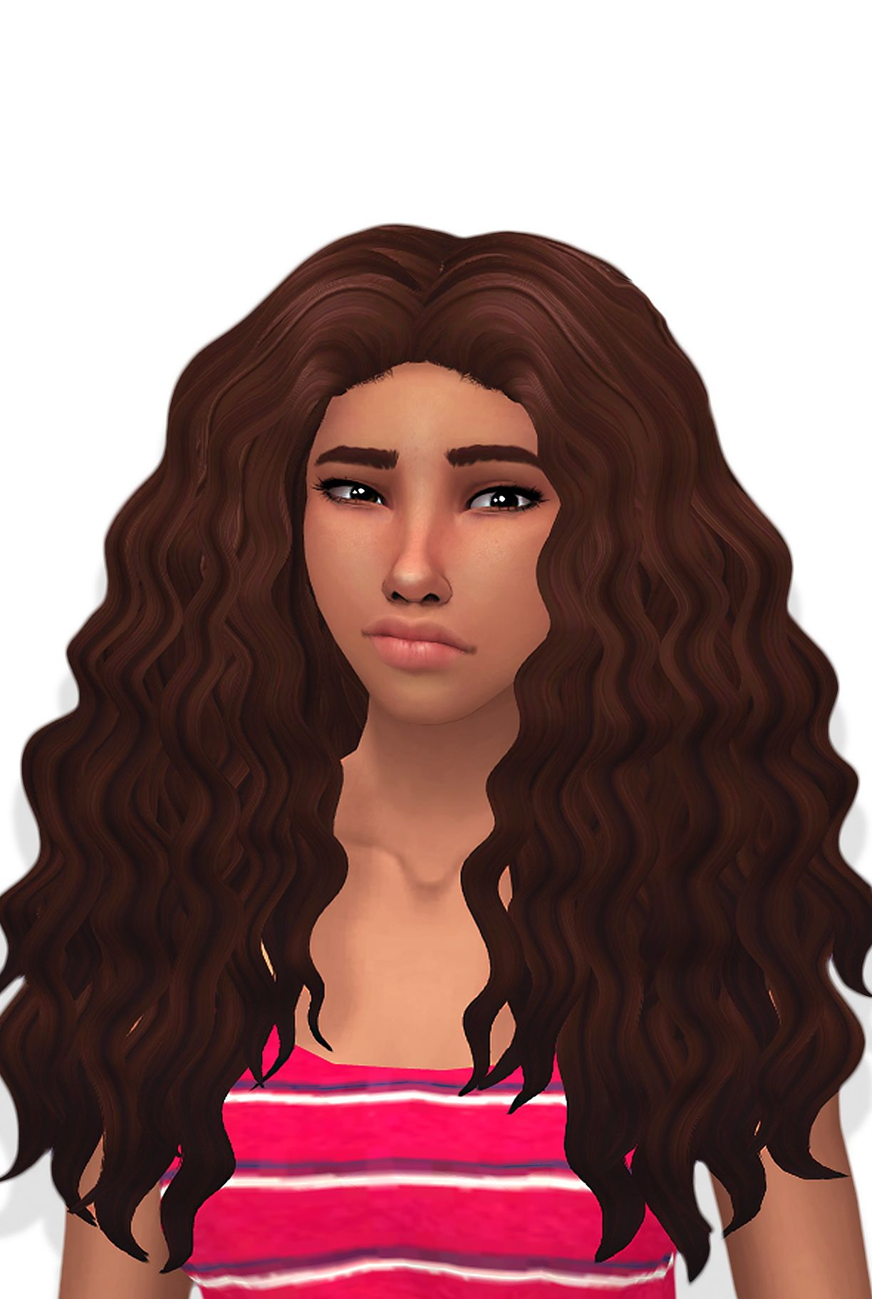 Butterscotchsims: Sintiklia Diva clayified hair - Sims 4 Hairs - http://sims4hairs.com/butterscotchsims-sintiklia-diva-clayified-hair/