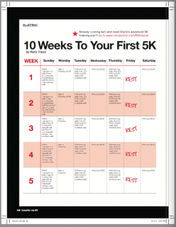 how to train for a 5k in 3 weeks