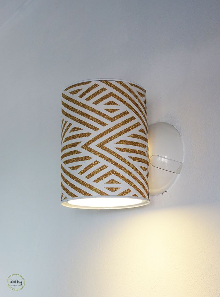 How To Make A Wall Lamp With Tin Can