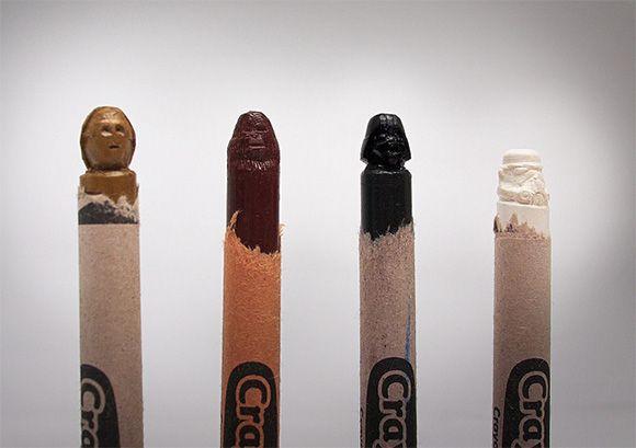 Star Wars Crayon Carvings. Fantastic. | Geekdom | Pinterest ...