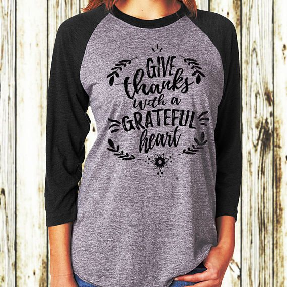 7a1de0c254ef2 Thanksgiving T-shirt Thankful Shirt Give Thanks With A