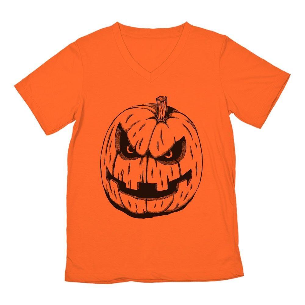 Jack o Lantern Halloween V-Neck T-Shirt